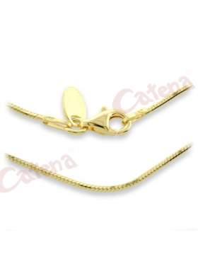 Αλυσίδα ασημένια επιχρυσωμένη κίτρινη περασμένη με διαμάντι και είναι γυαλιστερή