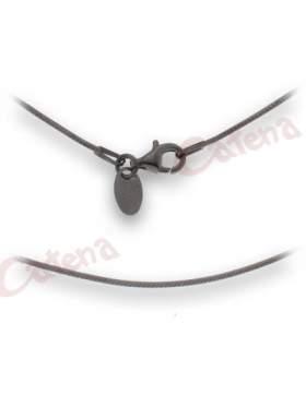 Αλυσίδα ασημένια με μαύρο επλατίνωμα και κούμπωμα ασφαλείας