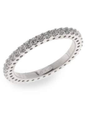 Δαχτυλίδι ασημένιο επιπλατινωμένο με άσπρες πέτρες ζιργκόν σε σχέδιο ολόβερο