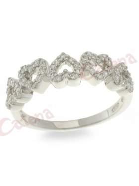Δαχτυλίδι  με καρδούλα σε χρώμα λευκό